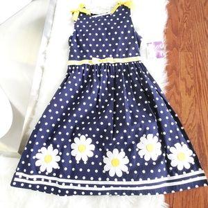 BLUEBERi boulevard Big Girl Dot Daisy Dress